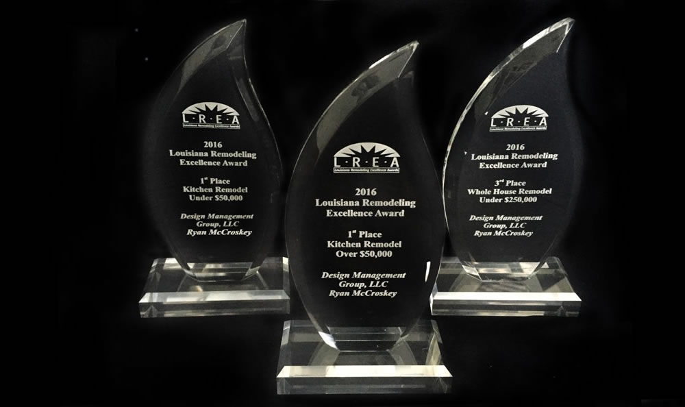 LREA Louisiana Remodeling Excellence Awards Trophies